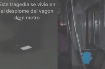 Tiktokers revelan videos desde adentro de Metro que colapsó y documentan aterrador momento