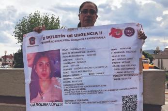 Carolina desapareció hace dos años en Edomex, su familia vive en la incertidumbre