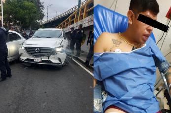 Policías tumban a balazos a un asaltante y éste asegura que no recuerda qué pasó, en CDMX