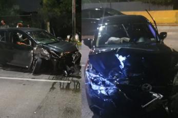 Mujer resulta lesionada luego de un accidente vial en la alcaldía Iztapalapa