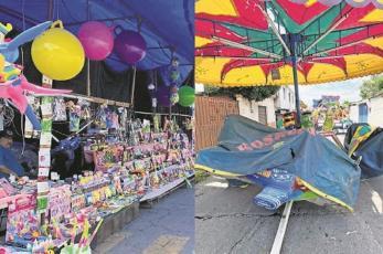 """Feria de """"Nuestra Señora del Carmen"""" reporta bajas ventas en Morelos, luce vacía"""