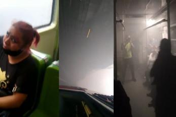 Se poncha llanta del tren del Metro Copilco, provoca humo y usuarios intoxicados en la CDMX