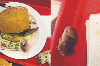 Mujer encuentra un dedo humano dentro de su hamburguesa y el horror se hace viral