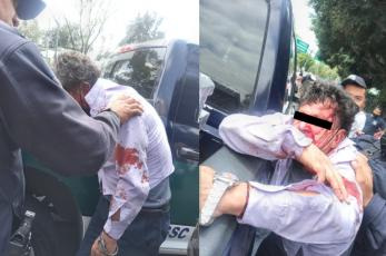 Turba furiosa saca a ladrón de una patrulla para lincharlo, en Tlalpan