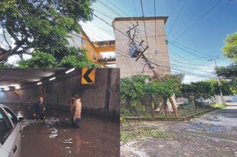 Cae tormenta, colapsa barranca y se registra temblor en pocas horas en Cuernavaca