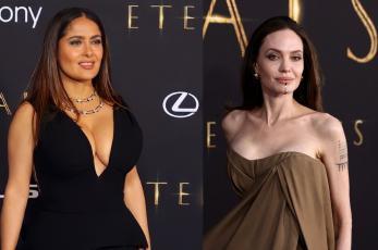 Salma Hayek y Angelina Jolie se hacen virales tras aparecer así en la premiere de Eternals