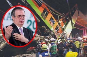 """Marcelo Ebrard se """"lava las manos"""" por el colapso en la Línea 12 del Metro CDMX"""