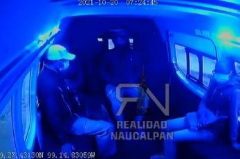Asaltantes atacan en combi de Naucalpan con extrema violencia, video captó todo en 30 segundos