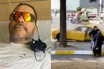 David Páramo difunde fuerte video de choque en la CDMX al sufrir aunerisma