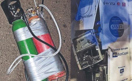 Delincuentes vuelan cajero automático con explosivos, en Iztapalapa