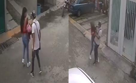 Captan a chavito dando golpiza a su novia en Ecatepec, se calentó y la cosa se puso dura