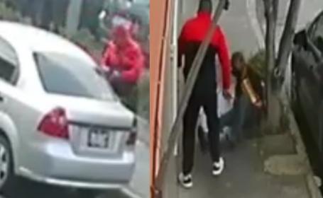 Graban modus operandi de ladrón de autopartes en CDMX, también golpeó a un abuelito