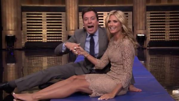 Heidi Klum y Jimmy Fallon